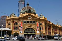 Beautiful Train Stations From Around The World - Flinders Street Station — Melbourne, Australia | #Trainstations #Places #Melbourne |