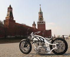 Futuristic Russian Bobber Motorcycle