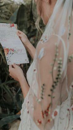 Colourful concertina invite with flower wreaths. Bohemian Wedding Stationery, Boho Wedding, Invites, Wedding Invitations, Flower Wreaths, Second Weddings, Service Design, Garden Wedding, Wonderland