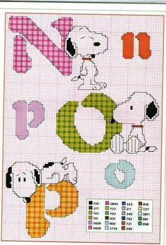 Snoopy Alphabet- part 5 of 8