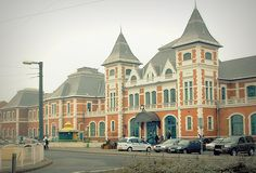 【Miskolc, Hungary】 Miskolc city Tiszai train station facade. Follow my photos in… Facebook All, Budapest Hungary, Train Station, Facade, Buildings, The Past, Europe, Mansions, Country