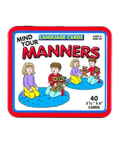 Take a look at this Patch Products Manners Flashcard Set by Healthy Habits: Books  Activities on #zulily today!