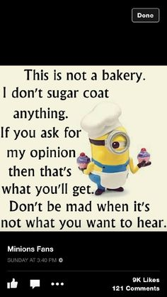 Like jeez louise people! Minion Jokes, Minions Quotes, Funny Minion, Work Humor, Work Funnies, Hostile Work Environment, Funny Cartoons, Funny Humor, Funny Comments