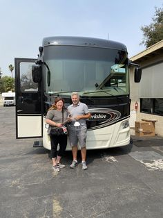 """Steve & Laura, wishing you many """"Miles of Smiles"""" and congratulations on your 2015 FOREST RIVER BERKSHIRE! All the best, Conejo RV and The Conejo Rv Team. Rvs For Sale, Forest River, Southern California, Motorhome, Congratulations, Boat, Dinghy, Rv, Motor Homes"""