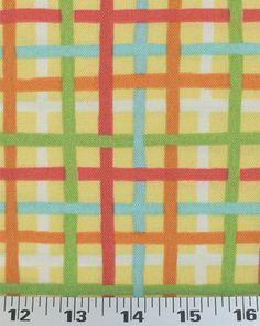 Baja Plaid Lemon - Indoor/Outdoor | Online Discount Drapery Fabrics and Upholstery Fabric Superstore!