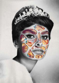 """""""Princess / Headcut"""" by Matthieu Bourel. Art Print / Mini (8"""" x 10"""")"""