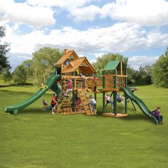 280eb40019878 Gorilla Playsets Treasure Trove II Wooden Swing Set from NJ Swingsets Cedar Swing  Sets