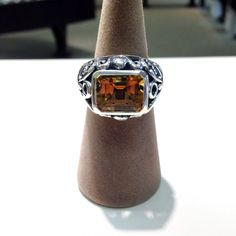 Sterling silver citrine ring #jewelry #sterling #ring
