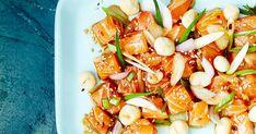 Keitä poken lisukkeeksi riisiä, niin saat havaijilaisten rennosta rantakalasta täyttävän aterian. Kung Pao Chicken, Pasta Salad, Ethnic Recipes, Crab Pasta Salad, Cold Noodle Salads, Noodle Salads, Macaroni Salad