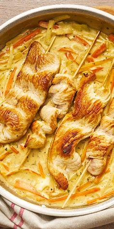Diese saftigen Geflügelspieße in Gemüse-Sauce hast du in nur 15 Minuten zubereitet. Aus einigen frischen Zutaten entsteht ein leckeres Gericht, dass sich perfekt für ein Abendessen nach einem langen Tag eignet.
