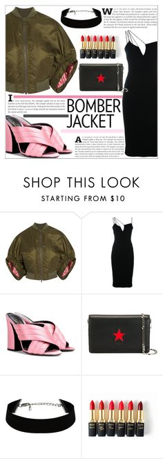 """""""Winter Style: Bomber Jackets"""" by martso ❤ liked on Polyvore featuring Givenchy, Victoria Beckham, L'Oréal Paris, women's clothing, women, female, woman, misses and juniors"""