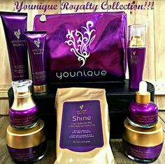 Royalty collection Younique  Beautiful metallic makeup bag for FREE Youniqueproducts.com/hairlovebyaleex