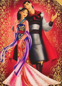 Day 16: Favorite couple; Shang and Mulan. They are so much a like but yet different at the same time:D