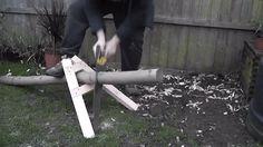 Log Holder for Hand Sawing