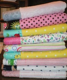 Piece N Quilt: Self Binding Receiving Blanket Tutorial--step by step photos to making these cute blankets.