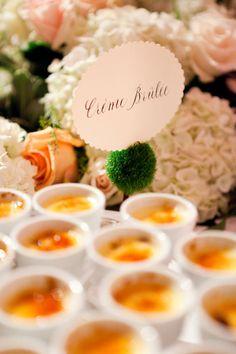 wedding creme brulee