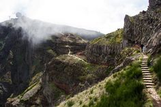 Magnificent trail on the roof of the Madeira Island