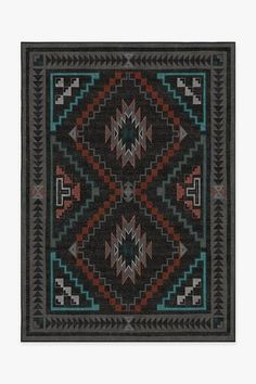 Our Dakotah Charcoal Rug is inspired by Navajo's storm pattern textile design. This rug features zigzag patterns, which symbolize lightning, surrounded by corner triangles that represent Navajo's four sacred mountains. Machine Washable Rugs, Large Area Rugs, Transitional Rugs, Red Rugs, Black Rugs, Textile Patterns, Textile Design, Natural Rug, House