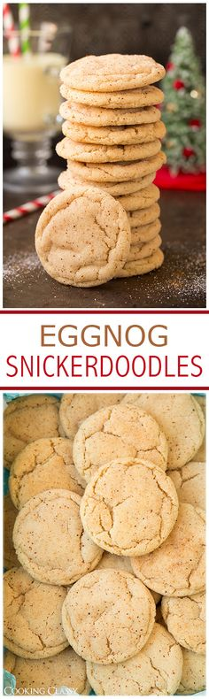 Eggnog Snickerdoodles - if you like eggnog you will LOVE these cookies! They are amazing!