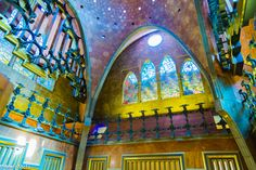 Palau Güell Gaudi, Spain And Portugal, Soft Colors, The Good Place, Spanish, Barcelona, Fire, Painting, Image