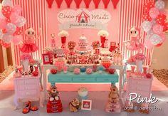 Pink Ateliê de Festas: Circo de Menina - Circo da Manu