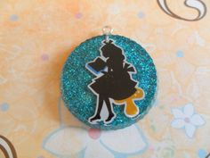 Alice in Wonderland blue resin piece by IceCreamOnToast on Etsy, $5.00