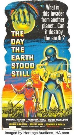 """Movie Posters:Science Fiction, The Day the Earth Stood Still (20th Century Fox, 1951). Standee(32.5"""" X 59.5"""").. ..."""