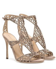Featured Shoes: Sergio Rossi; www.sergiorossi.com; Gold sandal heels.