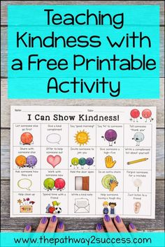 Teaching Kindness with a Free Activity Teach kindness in the classroom with a free printable activity for kids and teens. Kindness For Kids, Teaching Kindness, Kindness Activities, Printable Activities For Kids, Learning Activities, Preschool Activities, Fun Worksheets For Kids, Homeschooling Resources, Indoor Activities
