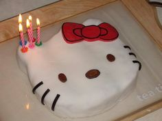 Hallo Kitty cake I made for my daughter's 5th birthday.