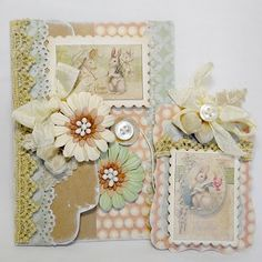 Fun Easter Envelope and card by Anabelle O'Malley #Graphic45's Le Romantique collection used.