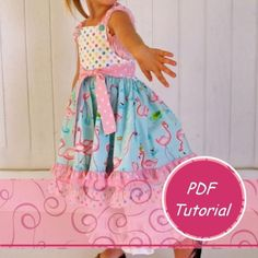 Instant Download - DIY Tutorial - How to Make a Boutique Halter Dress Instructions PDF ebook /size 18m-8