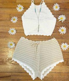 Crochet Lingerie, Bikinis Crochet, Crochet Bikini Top, Diy Crochet Top, Beach Crochet, Knit Crochet, Crochet Designs, Crochet Patterns, Crochet Bathing Suits