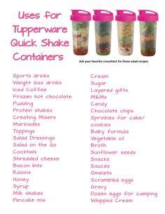 Tupperware Quick Shake