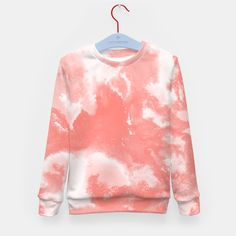 Living Coral Abstract Painting Pantone, Live Coral, Tie Dye, Ink, Abstract, Stylish, Sweatshirts, Sweaters, Tops