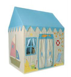 Kinderspielhaus aus Stoff, Bootshaus, wunderschön und einzigartig, in 2 Grössen, von Win Green
