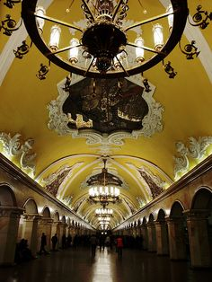 Komsomolskaya metro station in Moscow, Russia  - thought it was a church at first view!