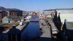 Solsiden area. By Plane, Trondheim, Norway, City, Cities