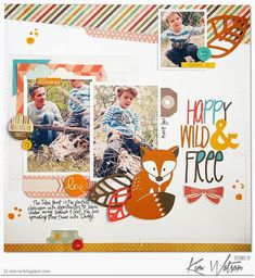 #FREE #littlefox #cutfile by #kimwatson perfect for #fall #scrapbooking using #happygolucky by #fancypantsdesigns for  September 2014 issue of #papercraftsmagazine