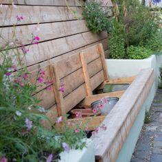 tuinbank met bergruimte 2
