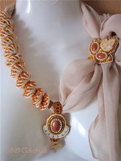 Мои шарфики | biser.info - всё о бисере и бисерном творчестве