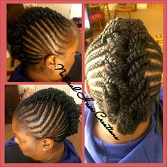 Photo by natural_hair_creations cornrows kinky twists