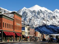 Telluride rises above the rest with its no-nonsense attitude, a healthy mix of ski bums and artists, gorgeous location (300 inches of snow and 300 days of sunshine every year), and sublime winter sports. The only downside (and perhaps its saving grace) is that it's a seven-hour drive from Denver (or five from Albuquerque). Telluride, #Colorado #iGottaTravel