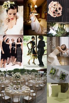 Vintage-Olive-Green-and-Black-Wedding-Ideas Gold too.