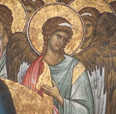 A special collecton of images of Angels - all Byzantine frescos from Serbian Churches Raphael Angel, Archangel Raphael, Byzantine Icons, Byzantine Art, Hagia Sophia, Order Of Angels, Renaissance Kunst, Paint Icon, Principles Of Art