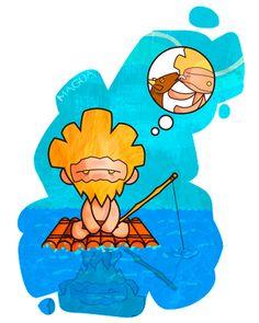 Magua: Sensación de desconsuelo o tristeza resultado de añorar algo. Ej: Que magua tiene Gofio de estar en tierra con su mascota.
