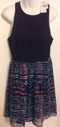 Speechless Size 13 Juniors Multi-Colo Dress Fully Lined Sheer Polyester NWT $48 #Speechless #Sheath #WeartoWork