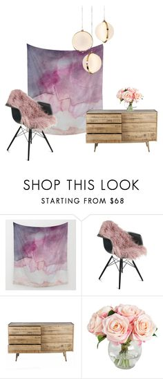 """""""Serene & Rosy"""" by rhymingscapes on Polyvore featuring interior, interiors, interior design, home, home decor, interior decorating and Baroncelli"""