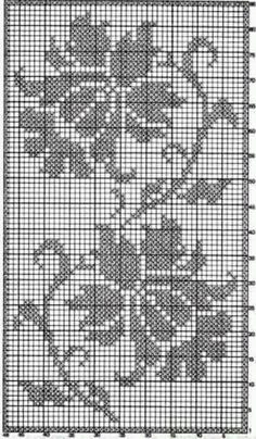 How To Crochet Wave Fan Edging Border St - Diy Crafts - Hadido - Diy Crafts Filet Crochet Charts, Crochet Cross, Knitting Charts, Thread Crochet, Crochet Stitches, Free Crochet, Embroidery Patterns Free, Doily Patterns, Weaving Patterns