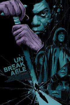 Unbreakable poster by Matt Ryan Tobin Best Movie Posters, Cinema Posters, Movie Poster Art, Cool Posters, Fan Poster, Cult Movies, Horror Movies, Great Films, Good Movies
